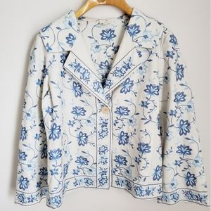 J. JILL- Embroidered Floral Jacket